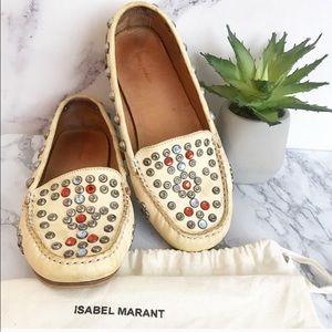 Isabel Marant 7 cherry embellished leather loafer